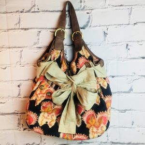 DEUX LUX Multicolored Canvas Large Hobo Tote